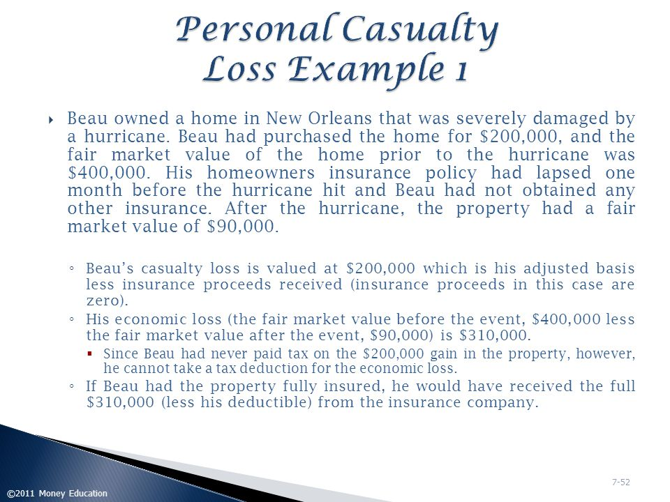  Continuing with the facts from the prior example, assume that Beau's AGI for the year is $100,000.