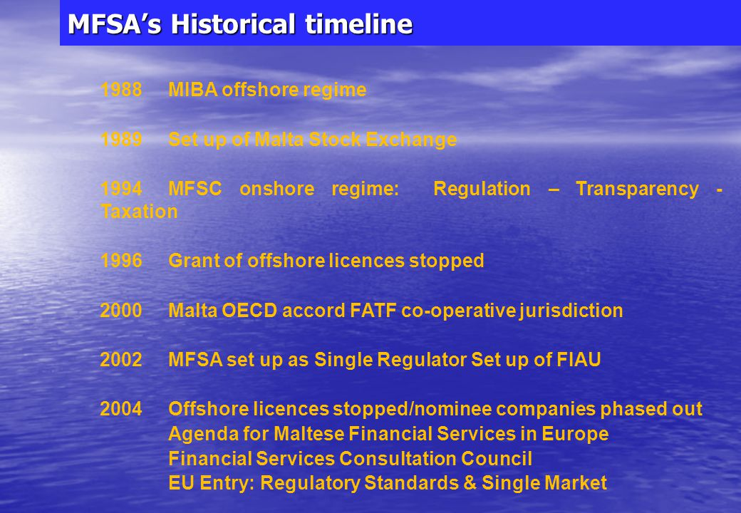 MFSA Creating a finance centre – the Supervisory Authority 24