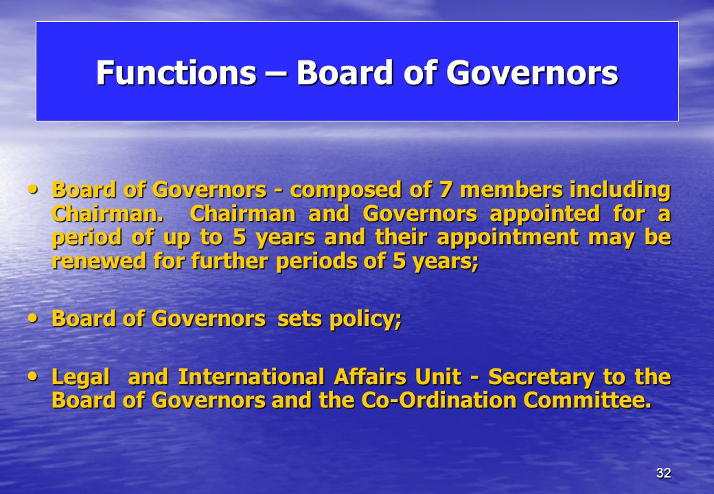 MFSA - Organogram Board of Governors Legal & Int. Affairs Unit Int. Affairs Unit Legal & Int. Affairs Unit Int. Affairs Unit ChairmanChairman Board Se