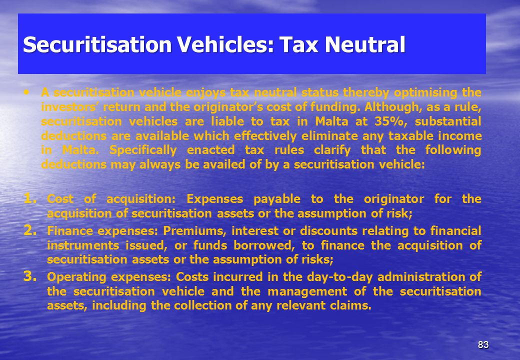 Taxation Malta follows an imputation system of taxation established in 1948. The system was agreed with the EU under State Aid and Code of Conduct for
