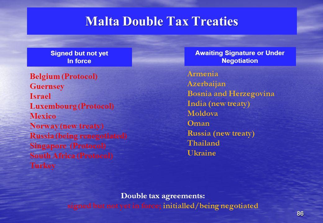 Malta Double Tax Treaties EU Countries Other European Countries Rest of the World Austria Belgium Bulgaria Cyprus Czech Rep.