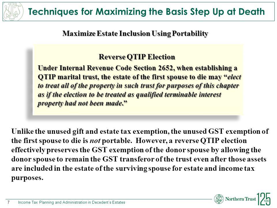 N O R T H E R N T R U S T © 2015 Northern Trust Corporation northerntrust.com Part 2: Income Tax Rules Unique to Decedent's Estates Income Tax Planning and Administration in Decedent's Estates