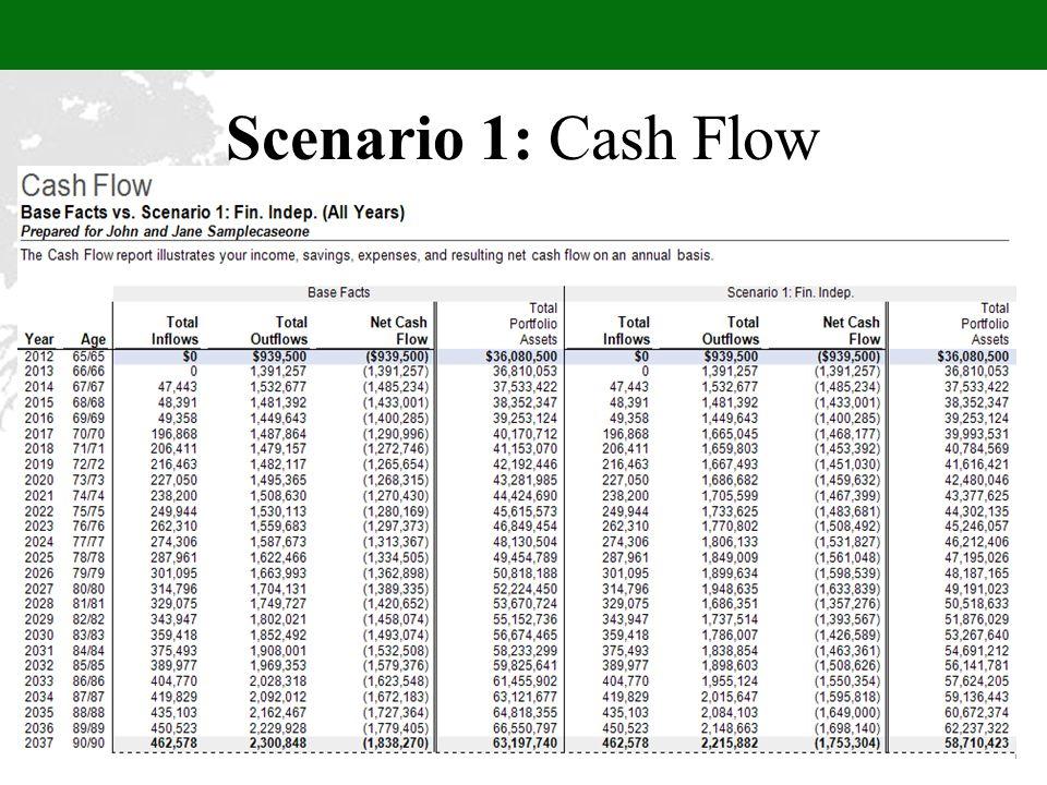 Scenario 1: Cash Flow