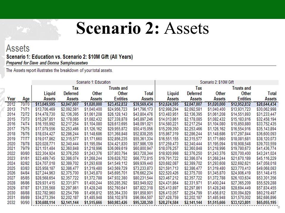 Scenario 2: Assets
