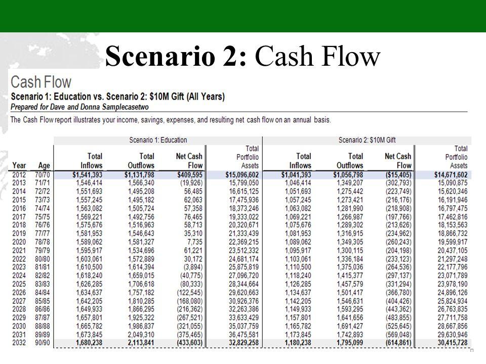 Scenario 2: Cash Flow
