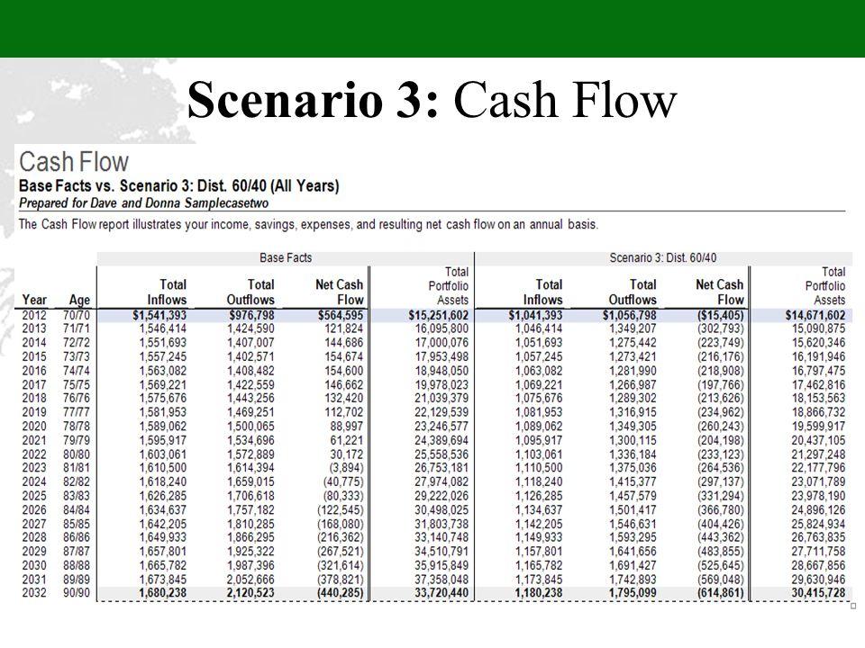 Scenario 3: Cash Flow