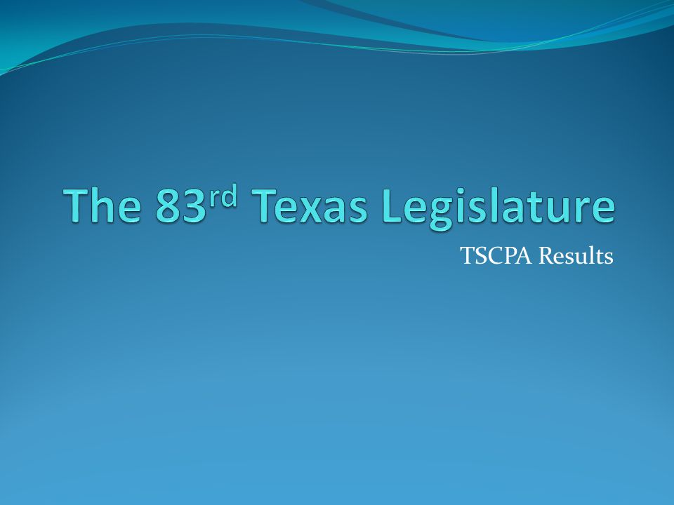 TSCPA Results