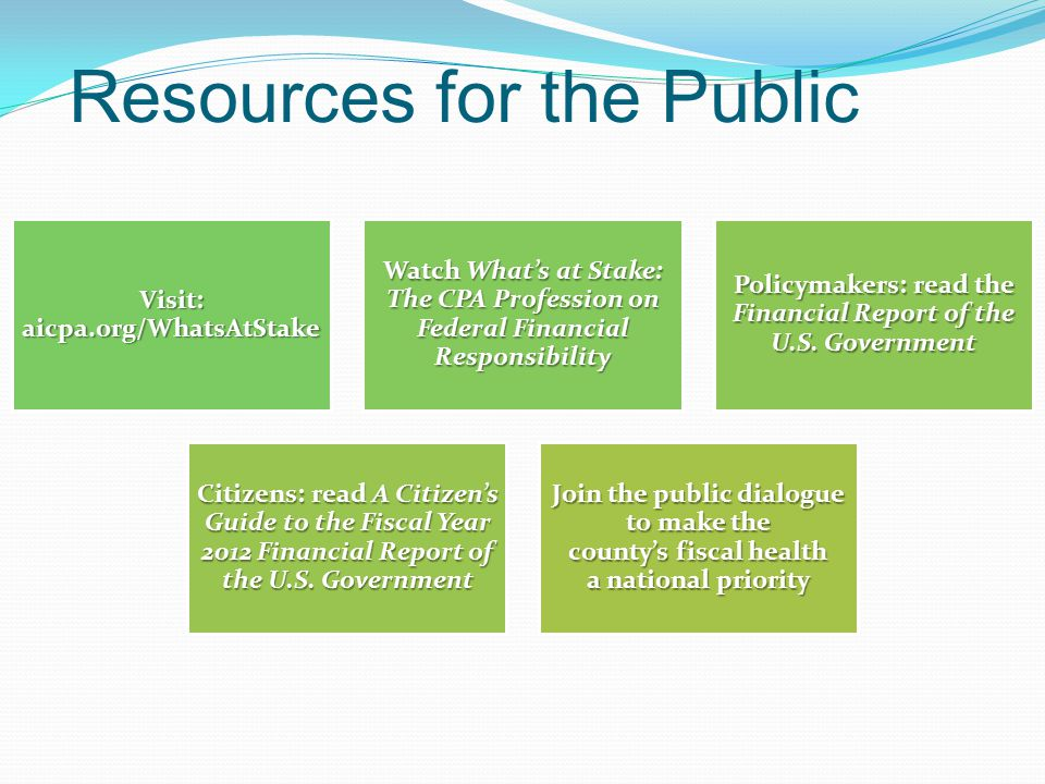 Resources for the Public
