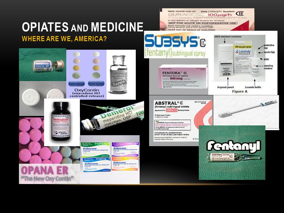 OPIATES AND MEDICINE WHERE ARE WE, AMERICA?