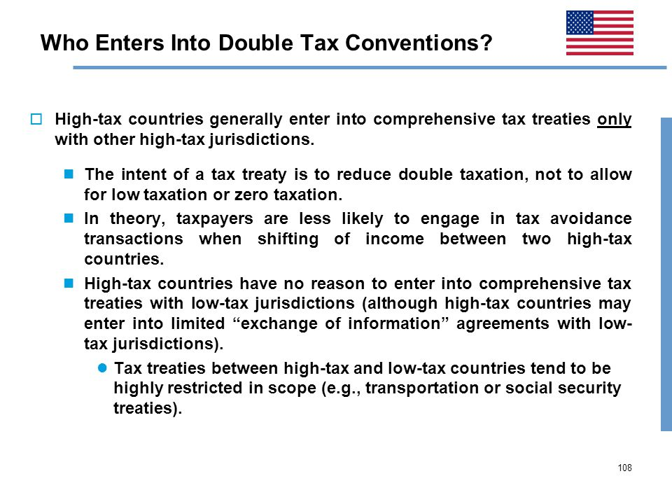 108 Who Enters Into Double Tax Conventions.