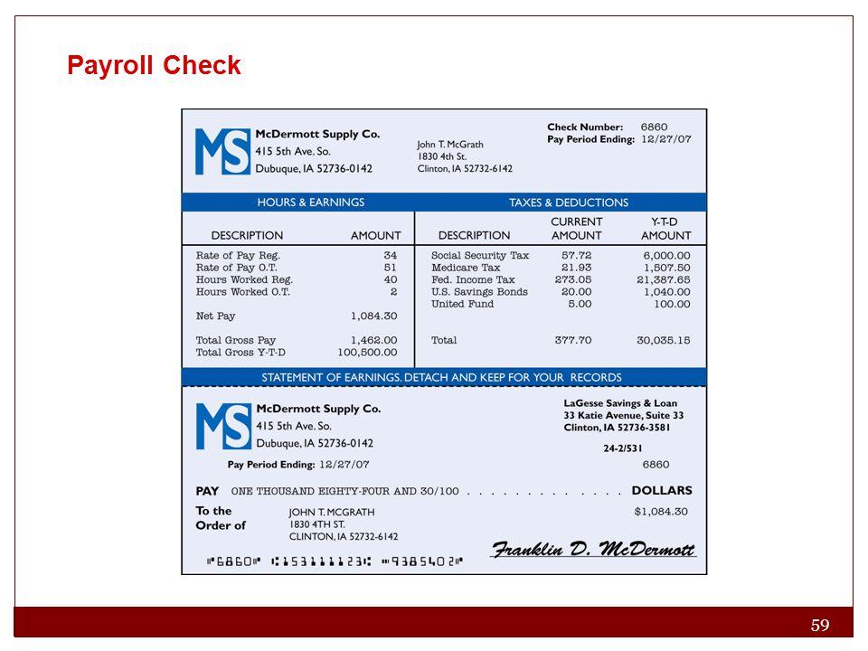 59 Payroll Check