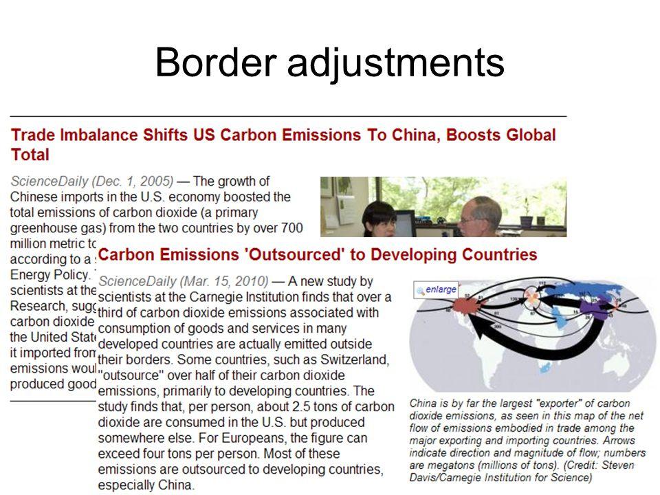 Border adjustments
