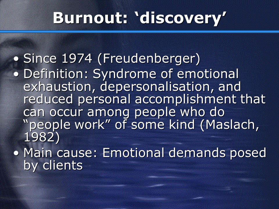 Outline Burnout: backgroundBurnout: background Measurement of BurnoutMeasurement of Burnout Research FindingsResearch Findings EngagementEngagement Burnout InterventionsBurnout Interventions