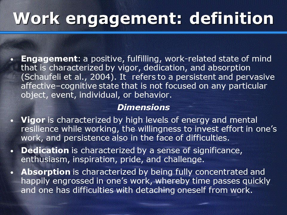 Burnout vs. Engagement Exhaustion Cynicism Red. Competence VigorDedication Absorption