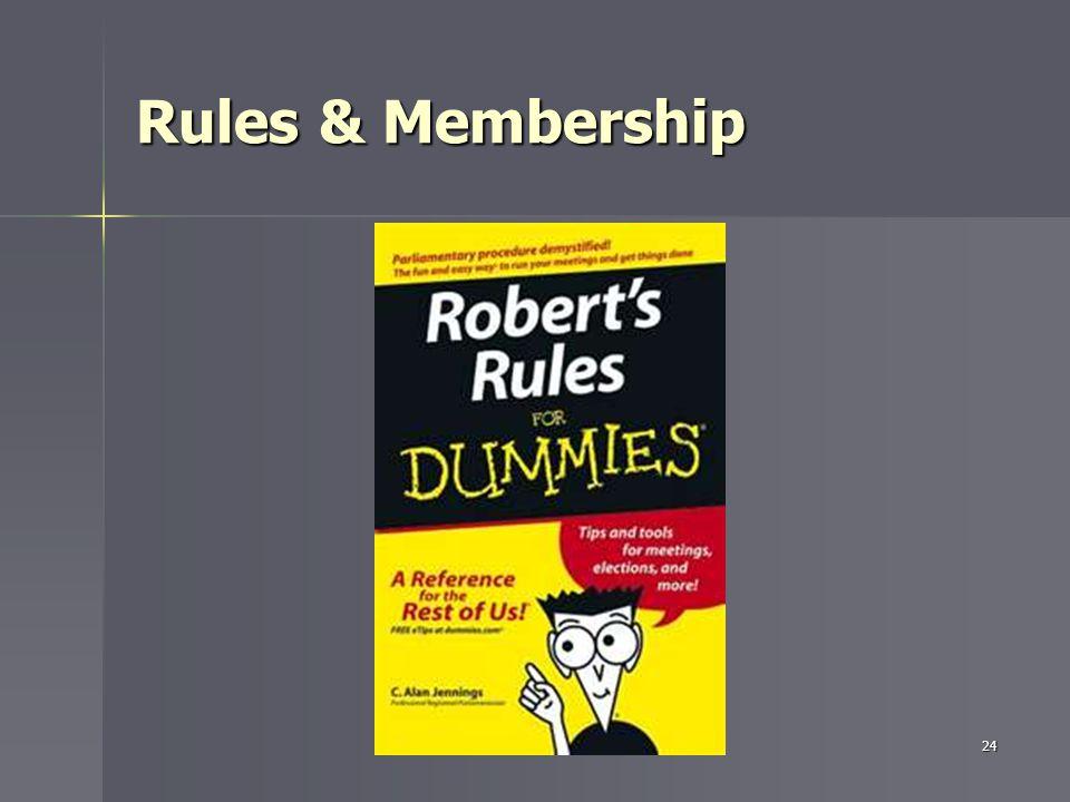 Rules & Membership 24