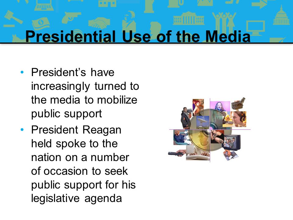 Contemporary Bases of Presidential Power Going Public –19 th century presidents were expected to be unifiers, and not speak out in public about policies –Now presidents must carefully cultivate their public image