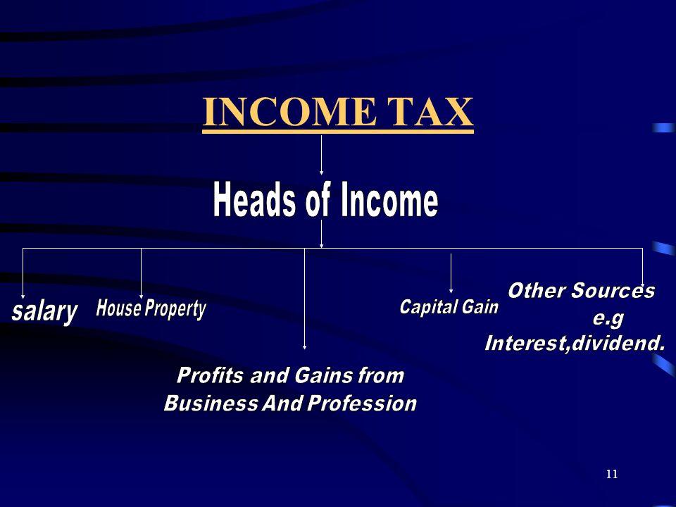 11 INCOME TAX