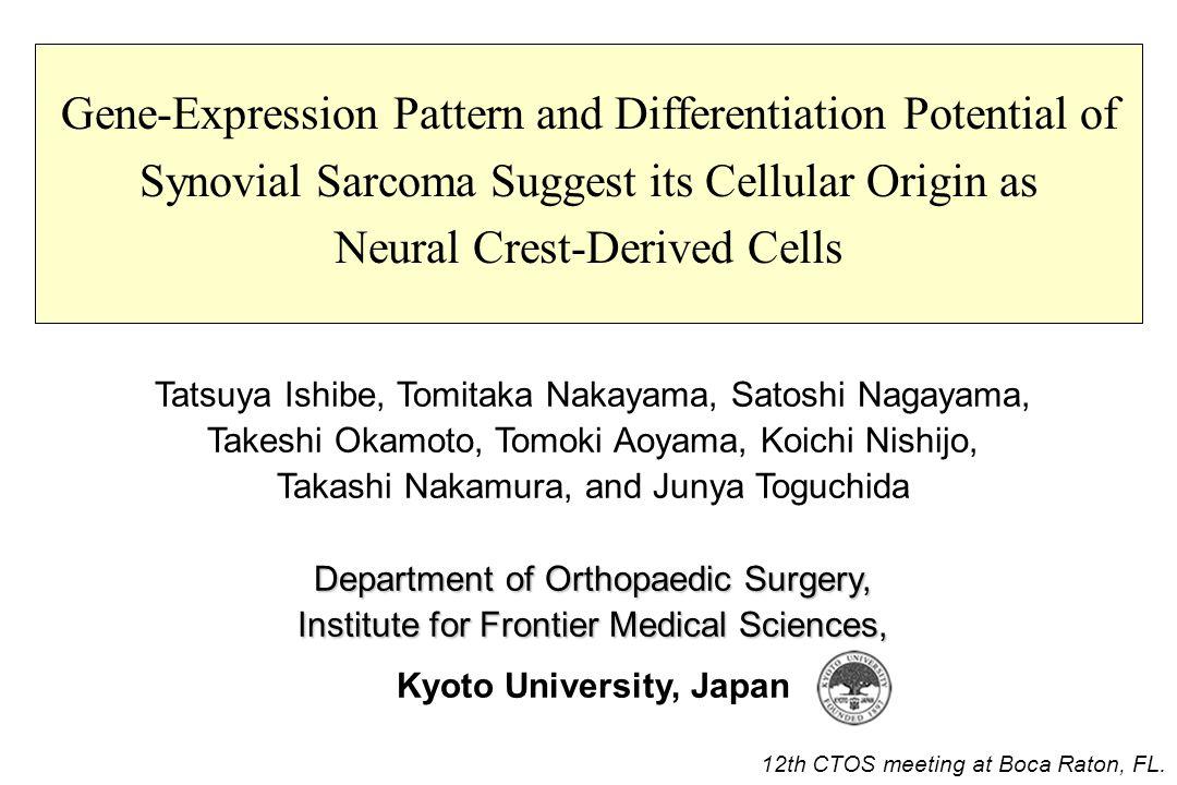 Why synovial sarcoma .