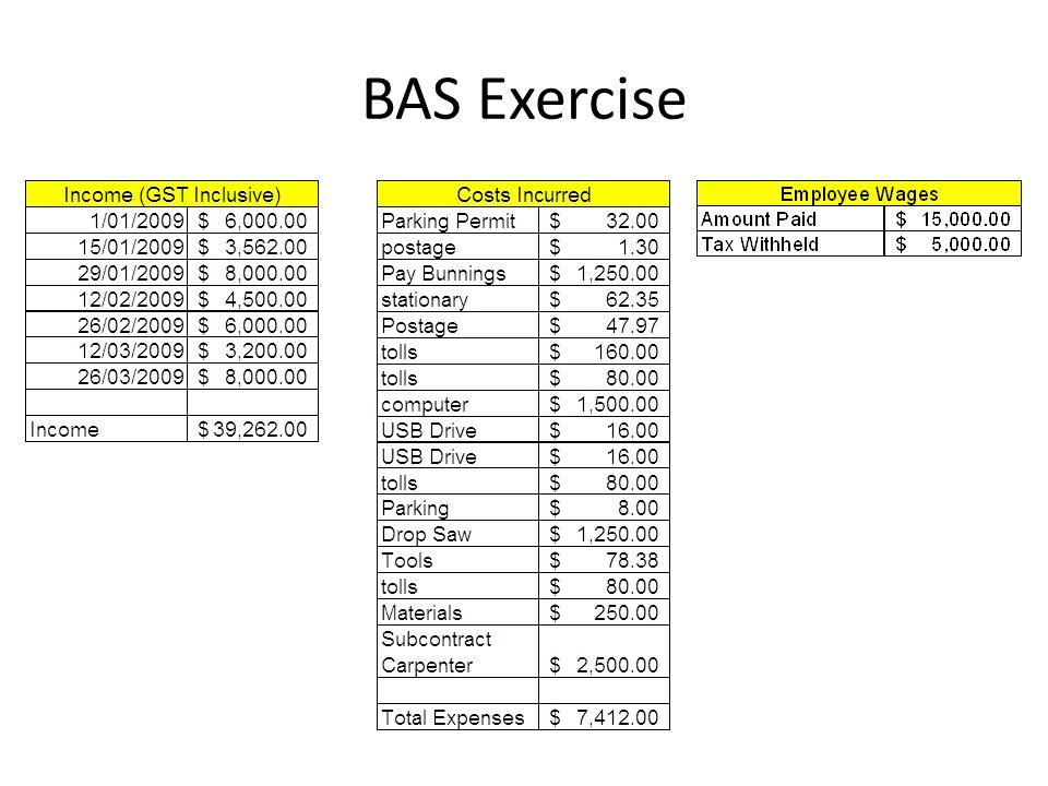BAS Exercise