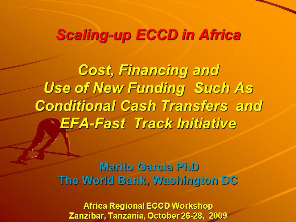 CCT Programs in Africa: NEW programs emerging !.