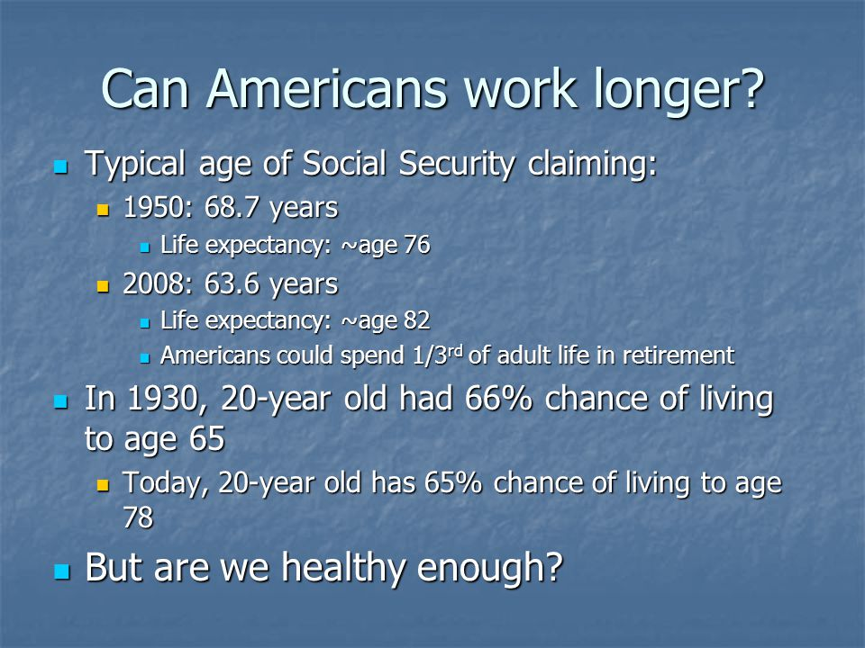 But are we healthier?