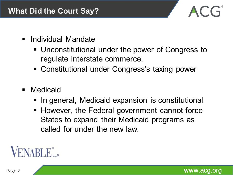 www.acg.org Page 3 What Does the Ruling Mean.