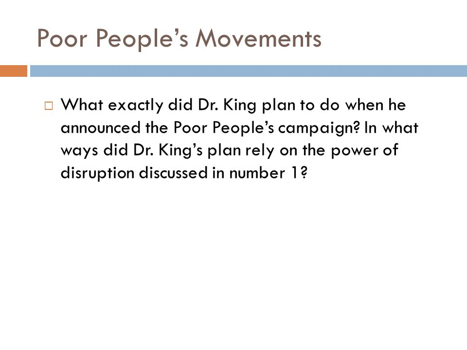 Poor People's Movements  What exactly did Dr.