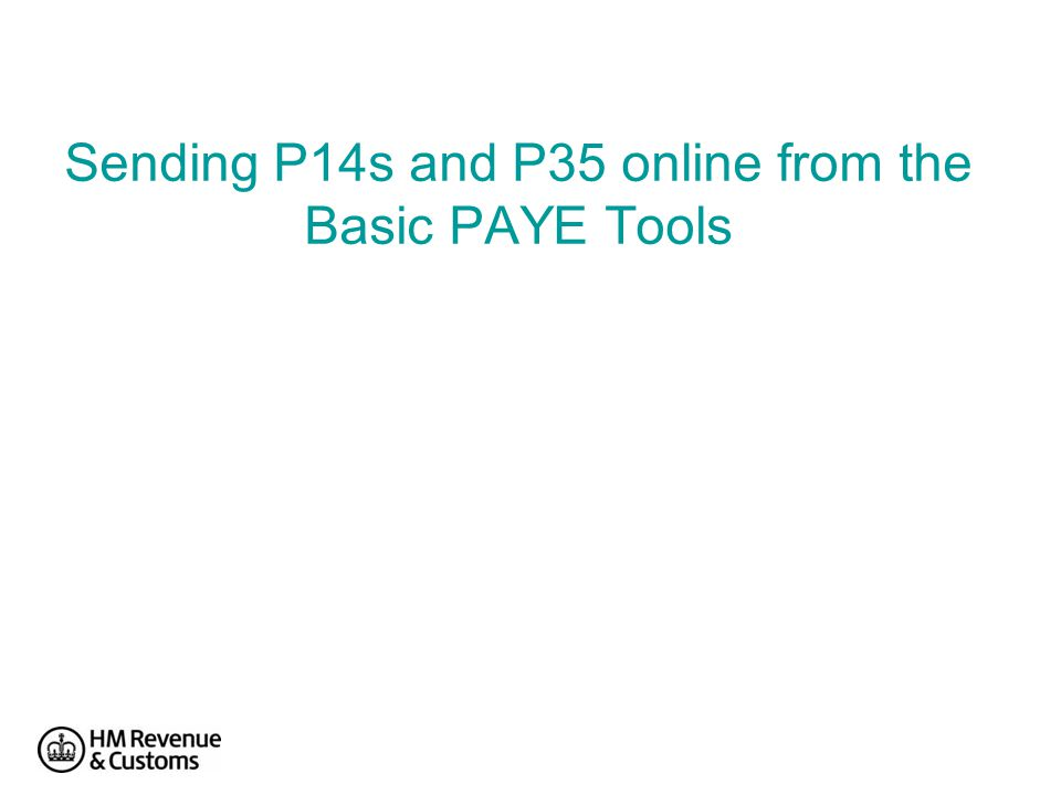 Sending P14s and P35 online from the Basic PAYE Tools
