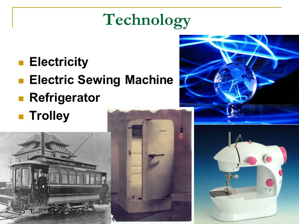 Technology Electricity Electric Sewing Machine Refrigerator Trolley