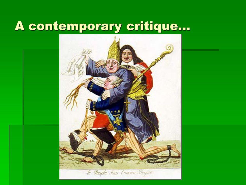 A contemporary critique…