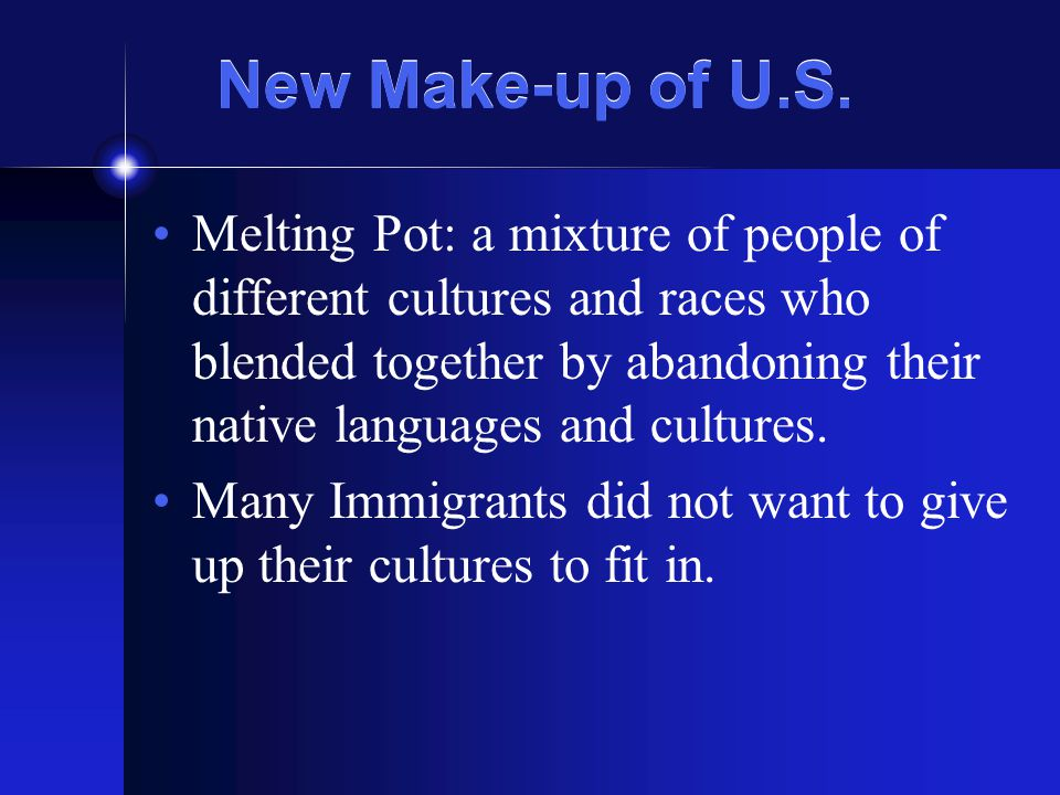 New Make-up of U.S.