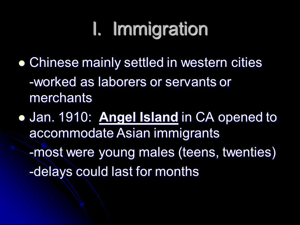 I.Immigration C.
