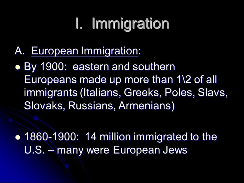 I. Immigration A.