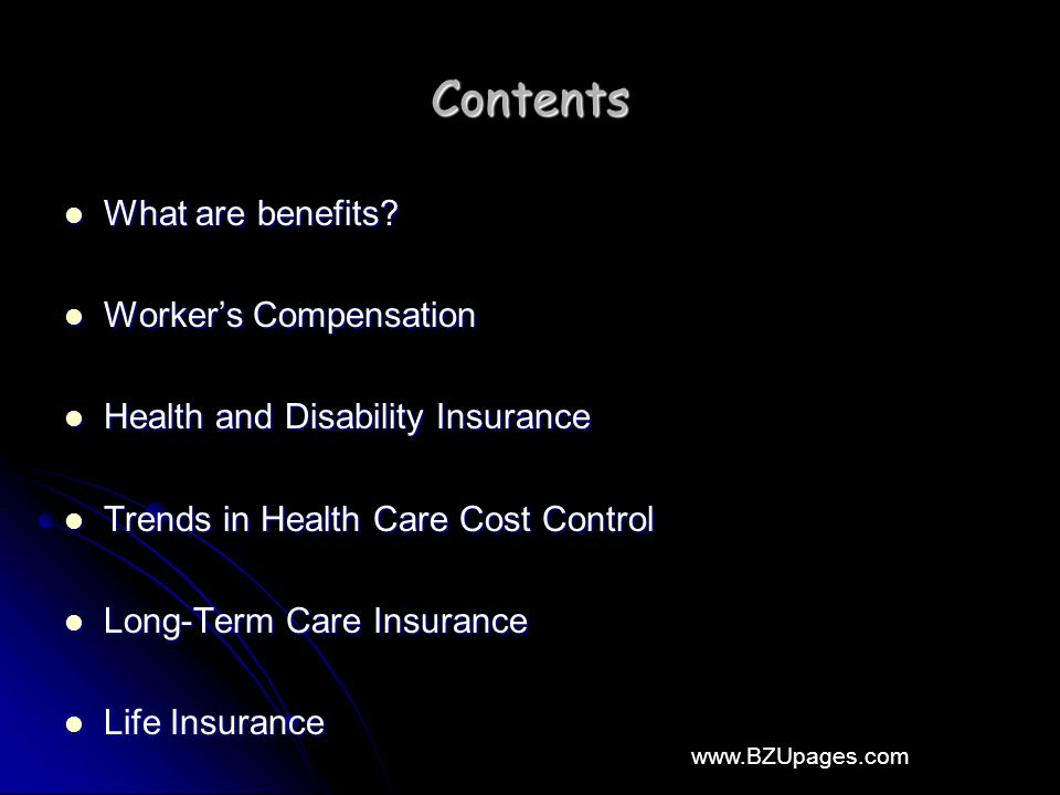 www.BZUpages.com Contents What are benefits. What are benefits.