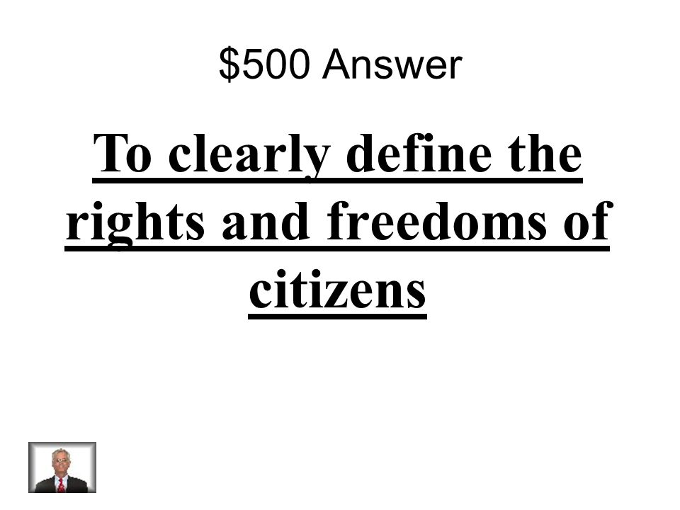 $500 Question Why did they add the Bill of Rights to the Constitution?