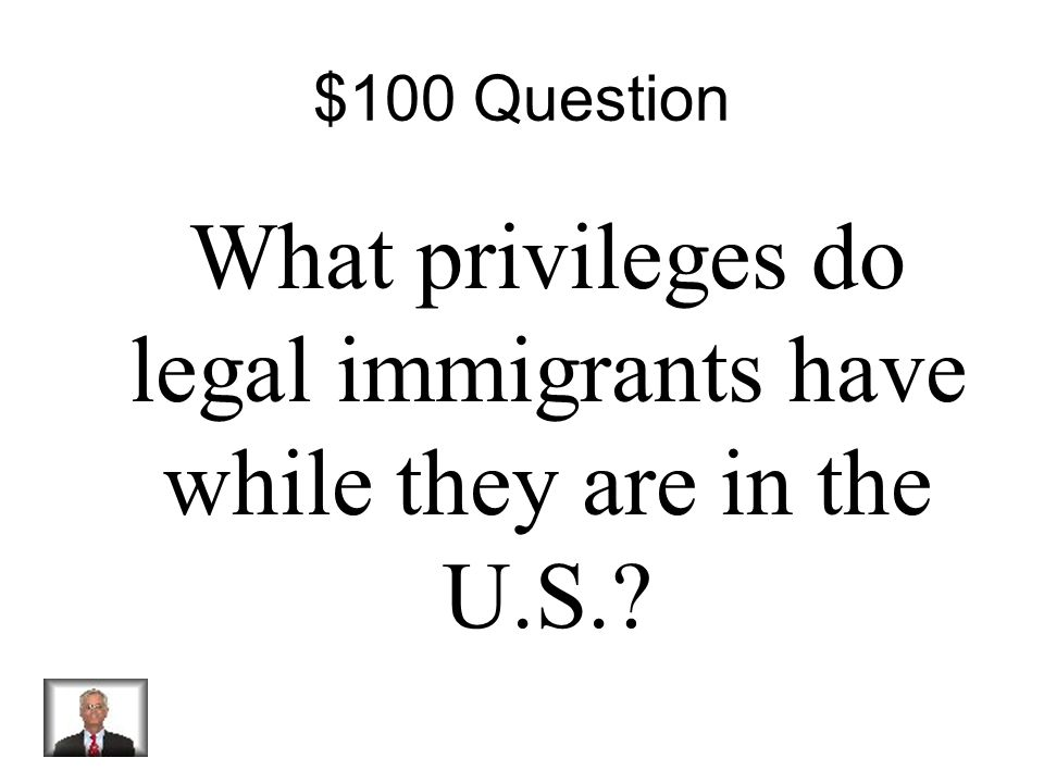 $500 Answer True If a foreign-born person who's parents are not citizens wants to become a U.S. citizen they must move to the United Sates?