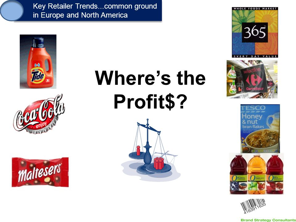 1. Key Retailer Trends...common ground in Europe and North America Key Retailer Trends...common ground in Europe and North America Where's the Profit$