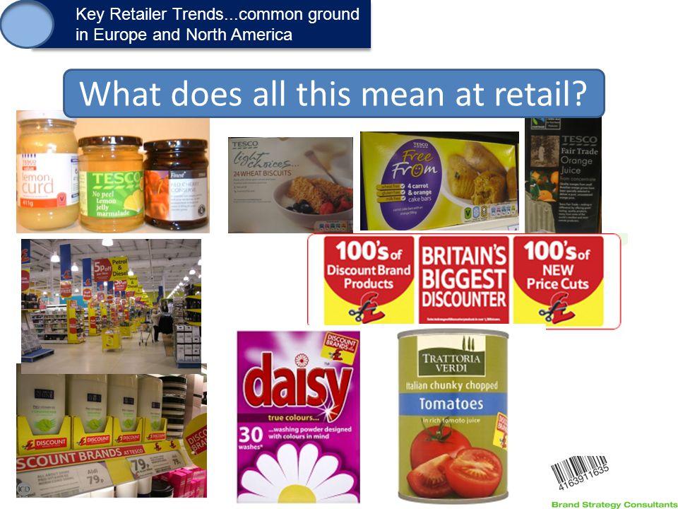 1. Key Retailer Trends...common ground in Europe and North America Key Retailer Trends...common ground in Europe and North America What does all this