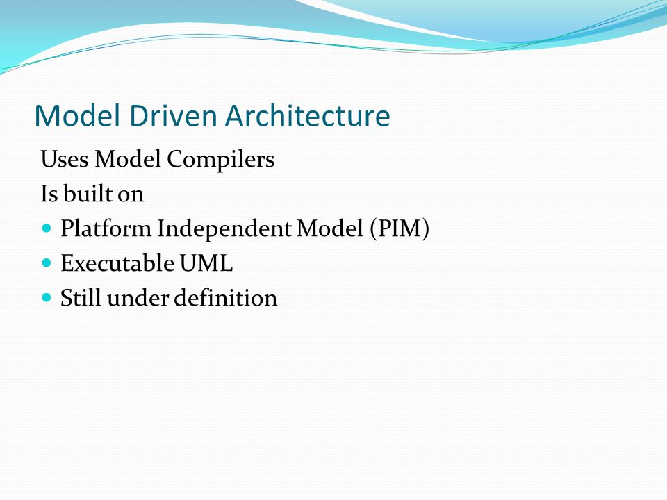 Separate the problem into multiple domains Semantically autonomous Build a model for the domain Based on use cases Find the classes Understand the life-cycle (state machine) etc.