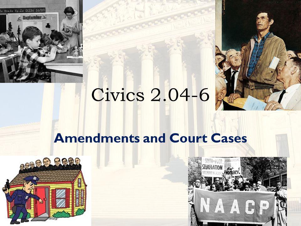 Civics 2.04-6 Amendments and Court Cases