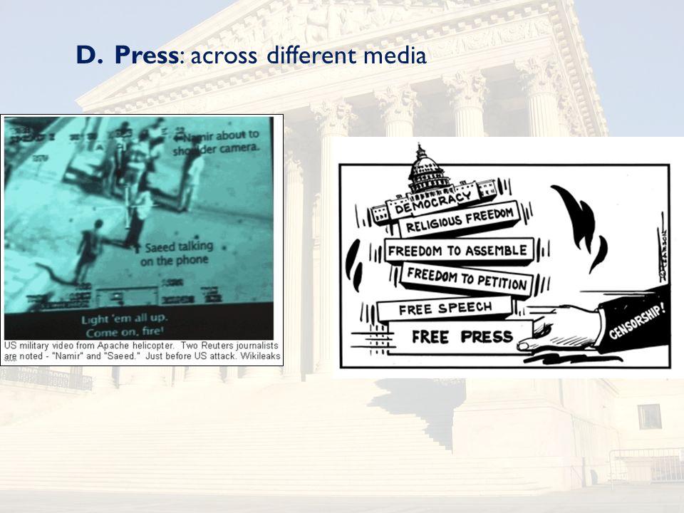 D.Press: across different media