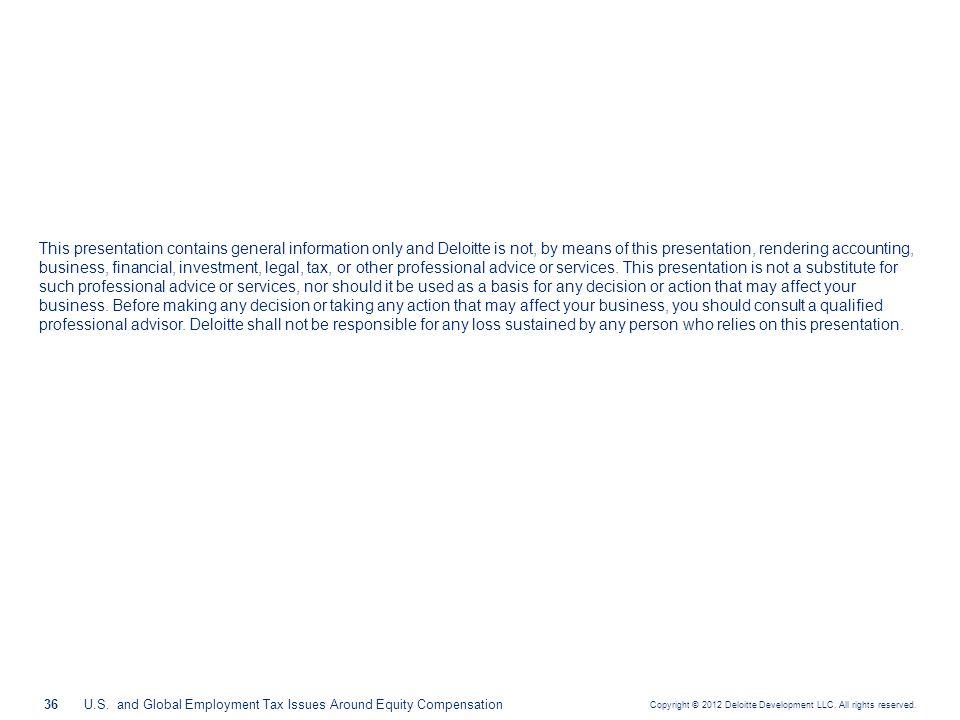 Copyright © 2012 Deloitte Development LLC.All rights reserved.