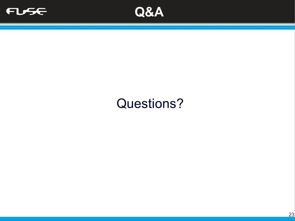 23 Q&A Questions