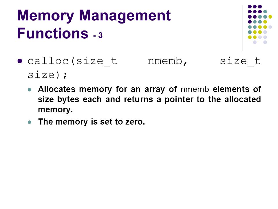 Improperly Paired Memory Management Functions – Example Program 1.