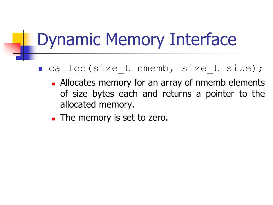 Memory Managers Manage both allocated and deallocated memory.