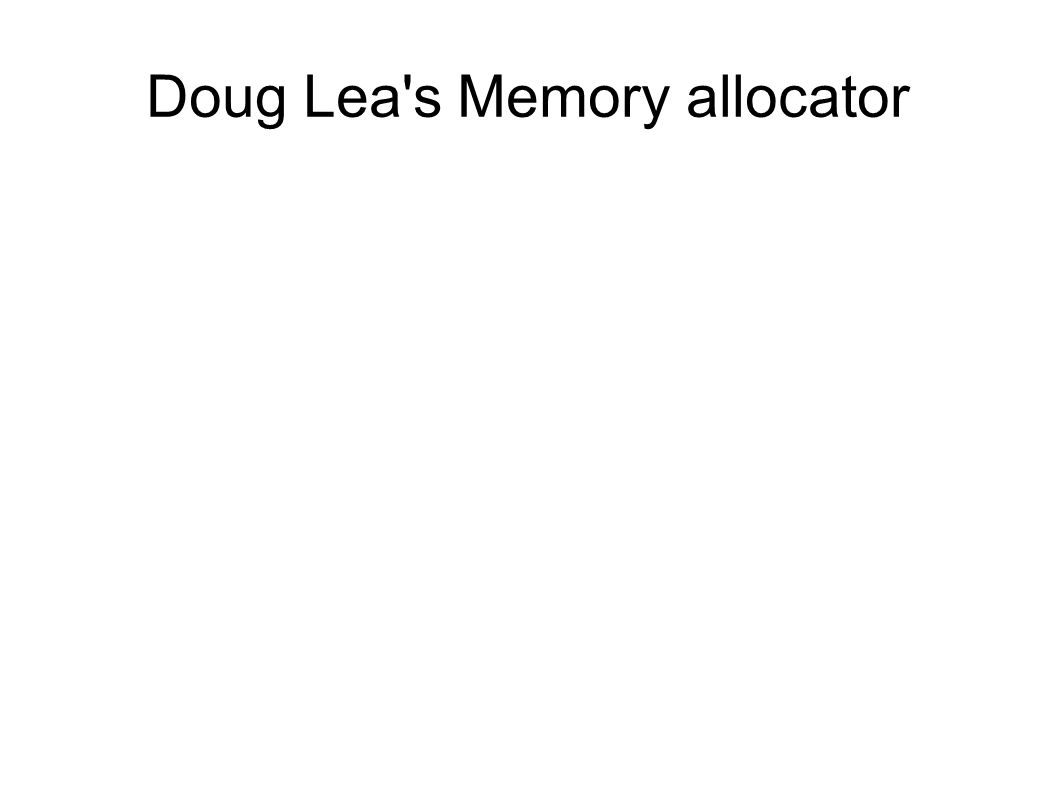 Doug Lea s Memory allocator