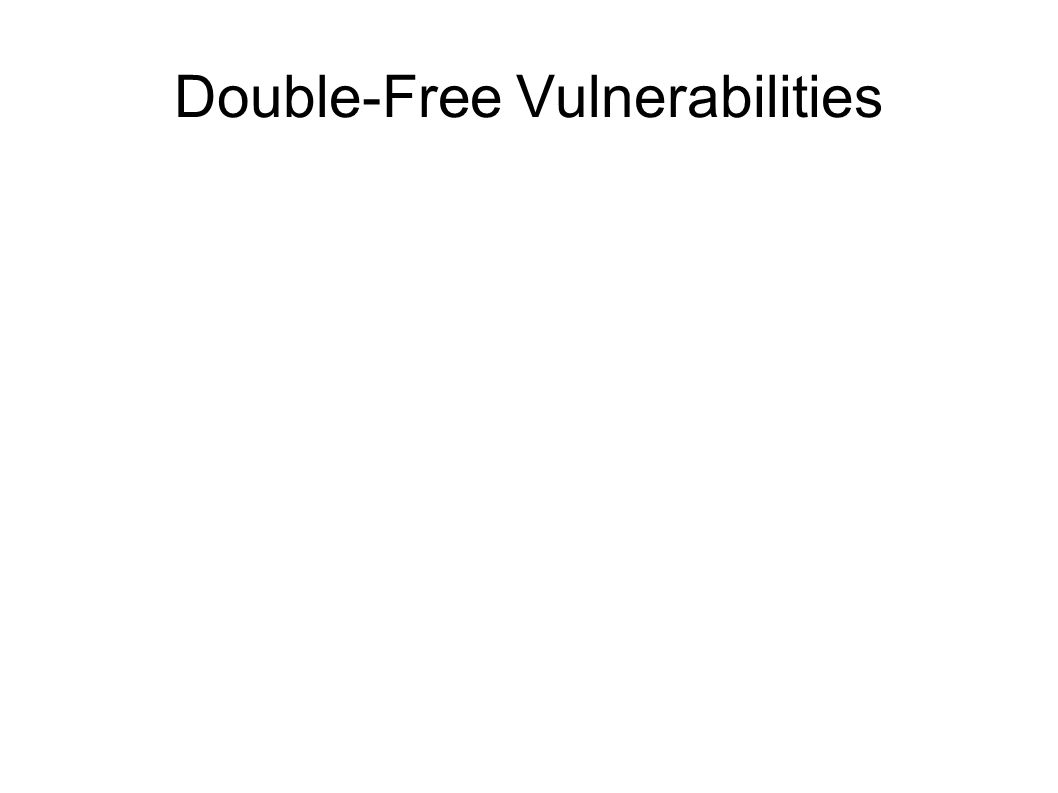 Double-Free Vulnerabilities
