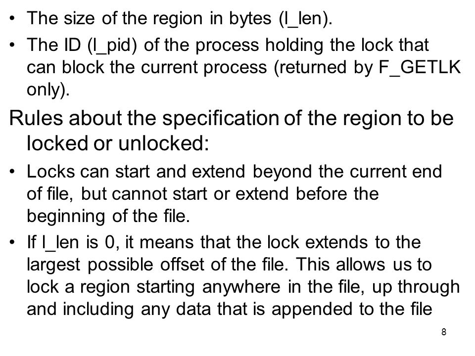 The size of the region in bytes (l_len).
