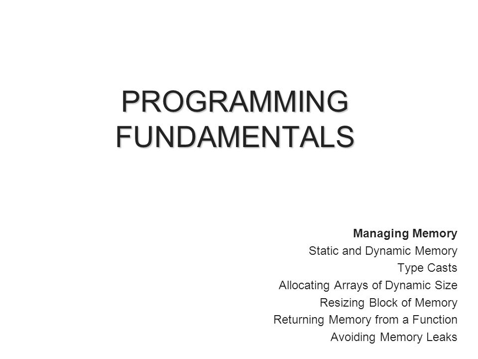 INTRODUCTION So far, fixed amount of memory is used Program could not increase or decreased memory during runtime Dynamic memory allow you to create and use data structure that can grow and shrink.