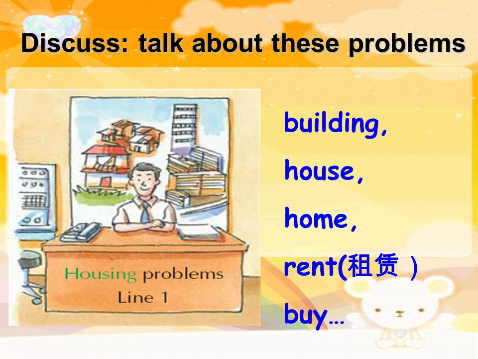 Listen to some students talking about their problems with the school counsellor (咨询师), try to complete the blanks.